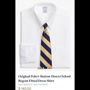 Brooks brothers NWOT REGENT FITTED SHIRT.
